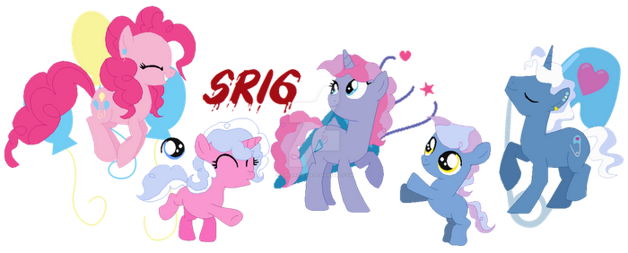 The Pokeypie family cutie marks by SuperRosey16