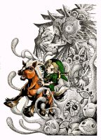the legend of zelda majora's mask 01 by yuririn1219