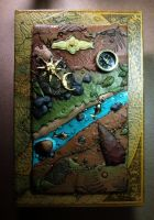 Custom Book Box Cover with Arrowheads and Compass by MandarinMoon