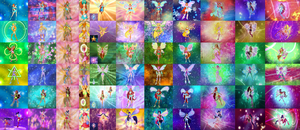 Winx club all transformations *not the movies* by RandomDigimonThings