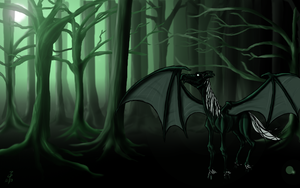 Thestral by cheddarpaladin