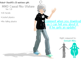 MMD Casual Piko DL by robot-star693