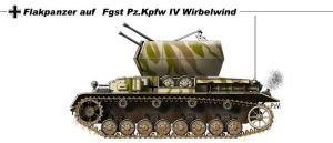 Flakpanzer IV Wirbelwind by nicksikh