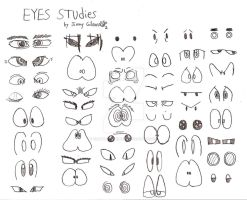 Jimmy Gibson's Eye Studies by CelmationPrince