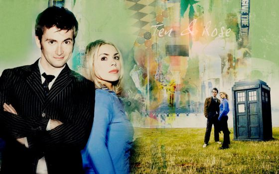 Rose Tyler and Tenth Doctor by LSPhoenixWolf
