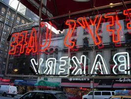 NY Neon cafe sign by LL-stock