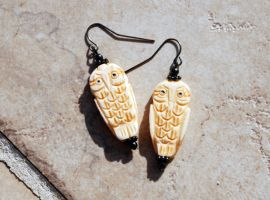 Carved Owls - Bone by kittykat01