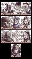 Captain America Sketchcards by Guy-Bigbelly