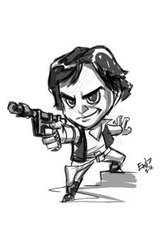 Han Solo Chibi - sketch commission by EryckWebbGraphics