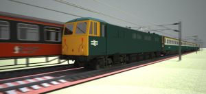 British Rail Class 87 by ANDY1701A