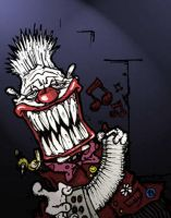 Freak show circus clown by Leconte