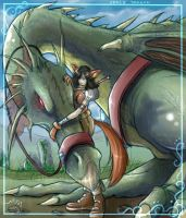 Dragon Rider - Space Coyote by Sayda