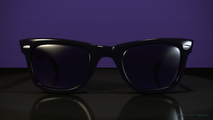 Roy Orbison Ray Ban Sunglasses by TheBigDaveC