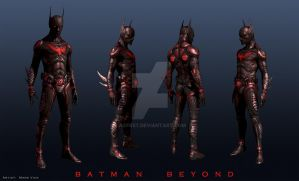 Original batman beyond art by agfrx7