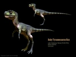 3D Baby T-Rex Textured by Red-Dilopho