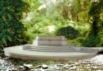Forest and fountain premade BG by StarsColdNight
