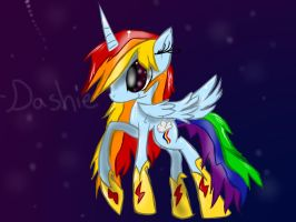 If rainbow dash was an alicorn... by the-RAYFAN