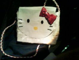 Hello Kitty duct tape Purse by UnderCoverCottonswab