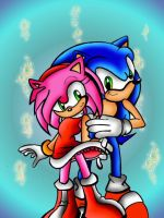 Amy and Sonic by kslrmine