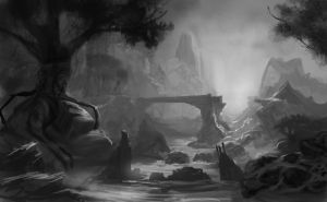Quick environment sketch14grey by Lyno3ghe