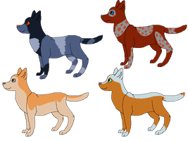 Doggy Adoptables by Finchflight