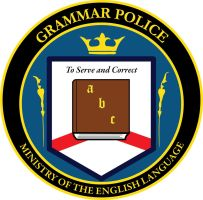 Grammar Police Logo WIP by Fly-Dog