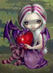 Valentine Dragon by jasminetoad