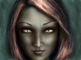 Pretty drow by Ex-zaria