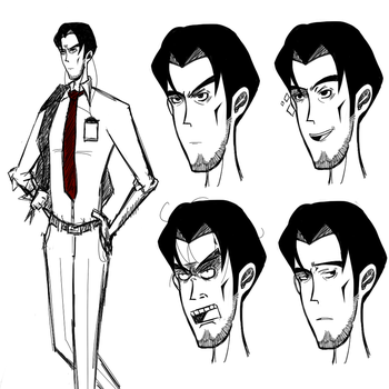 Hungry Whispers: Angry Guy Concept Art by Hika-Ree