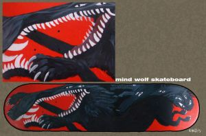 Mind Wolf Skateboard Finished by wylieblais