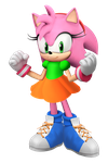 3D Amy Rose - Classic Clothing by TheArendDude