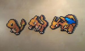 Pokedex #4 Charmander, #5 Charmeleon, #6 Charizard by RavenTezea