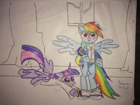 Final preview for Twilight pantes Rainbow Dash  by pjslegoman