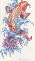 Koi Tattoo by AngieAauvre
