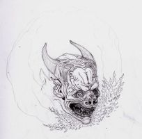 Demon tattoo design by barbelith2000ad