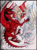 Demon luvs Angel dragon trade by Anarchpeace