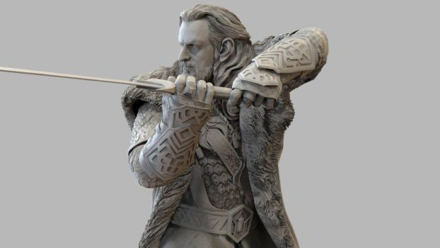 Thorin ZBrush sculpture for 3D printing by MadeleineSpencer