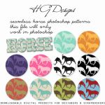 Seamless Horse Photoshop Patterns by HGGraphicDesigns
