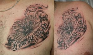 Chicano Letter Flower TaT by 2Face-Tattoo