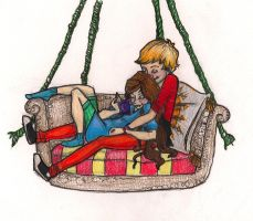 porch swing colored by mox-ie