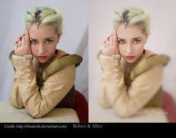 Elisabeth before and after by CindysArt