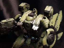 XV104 Riptide Battlesuit (paint damage) by DeathShadowSun