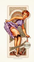 Gil Elvgren Tribute II Art Nouveau Sexy Pin up by jdesigns79