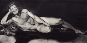 Ronald Reagan Nude 2 by MikeBourbeauArt