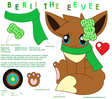 Ref. Sheet: Berii the Eevee by SweetBeriiChu