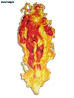 Human Torch Bead Sprite by DrOctoroc