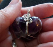 Wrapped amethyst heart by artefaccio