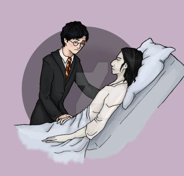 After Rain: Severus and Harry by bananacosmicgirl