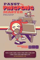 The PingPong Master Wallpaper by heiheirage