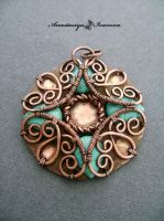 pendant with turquoise by nastya-iv83